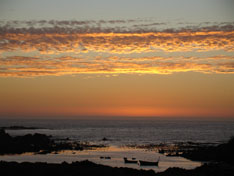 Beautiful sunsets from Abalone Guesthouse